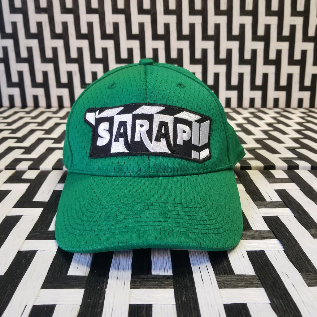 Green Fitted Pre Curved Mesh Cap