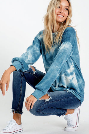 Blue Mix Tie-Dye Top