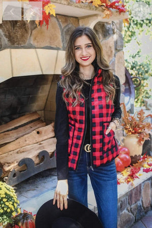 Red Buffalo Plaid Vest - Hello, Sunshine Market