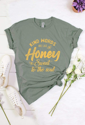 Kind Words Are Like Honey Graphic Tee - Hello, Sunshine Market