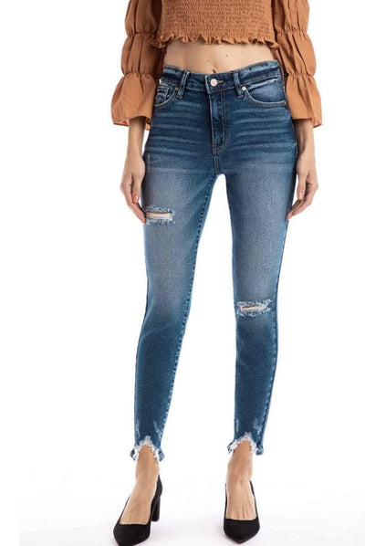 High Rise Distressed Ankle Skinny Jeans - Hello, Sunshine Market