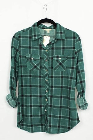 Hunter Green Plaid Shirt