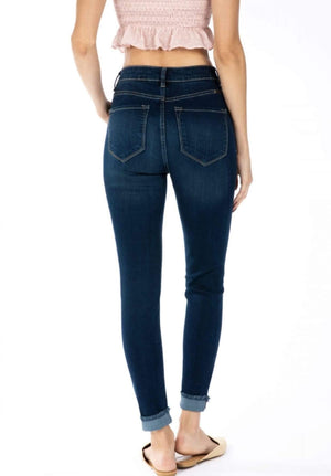 High Rise Button Fly Ankle Skinny Jeans - Hello, Sunshine Market