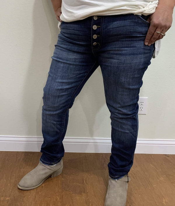 Button Fly Plus Size Jeans