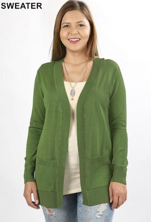 Kiwi Sweater Cardigan With Pockets