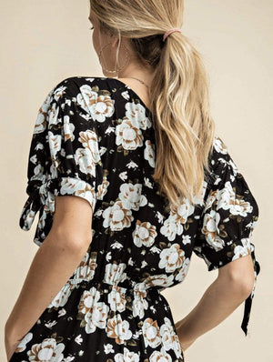 Black Mint Floral Jumpsuit - Hello, Sunshine Market