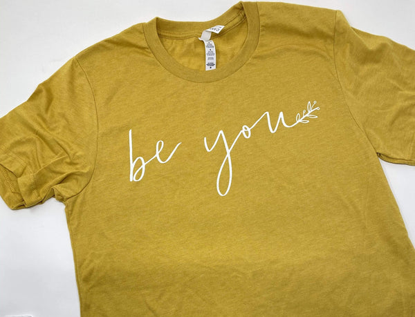 Heather Mustard Be You T-Shirt