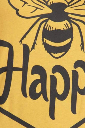 Mustard Bee Happy Graphic Tee - Hello, Sunshine Market