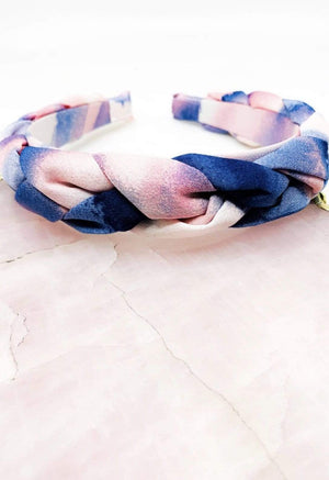 Pink And Blue Tie-Dye Headband