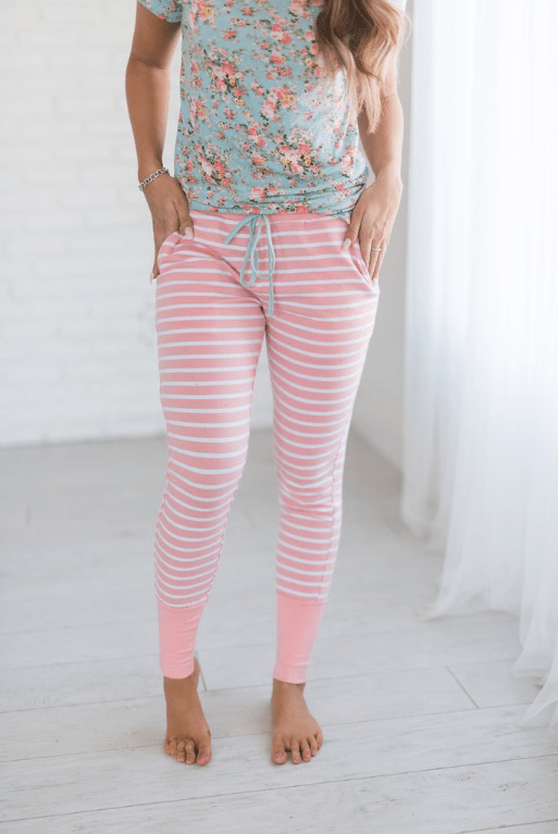Pink Stripe Loungers
