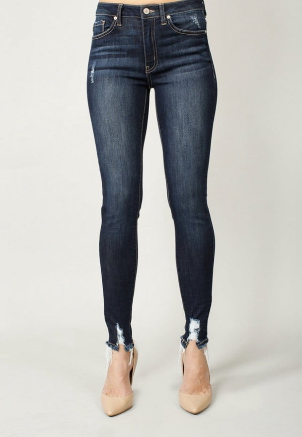 Blue High Rise Super Skinny Jean