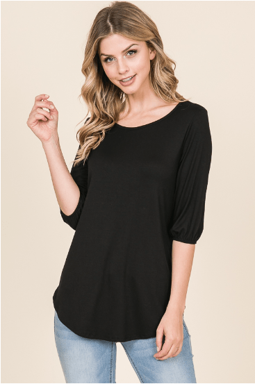 Black Easy Fit Top