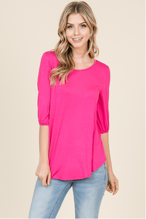 Fuchsia Easy Fit Top