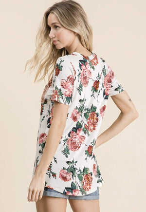 Floral Print With Sequin Pocket - Hello, Sunshine Market