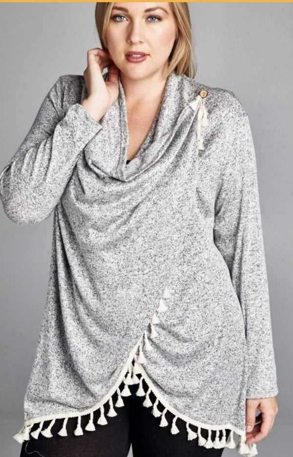 Heather Grey Cardigan
