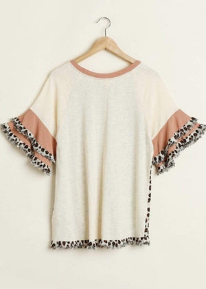 Natural Animal Print Top