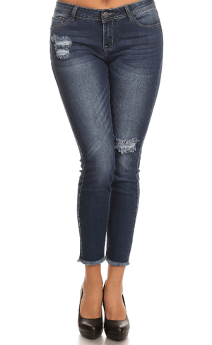 Mid Rise Distressed Skinny Jeans - Juniors