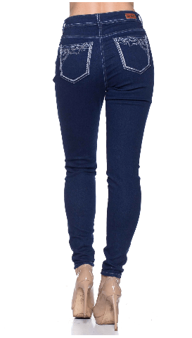 Dark Indigo Missy Stretch Denim Skinny Jeans