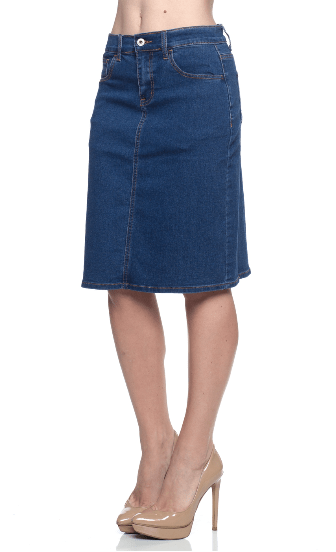 Indigo Stretch Denim Pencil Skirt - Hello, Sunshine Market