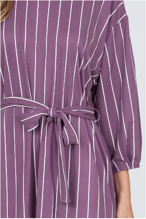 Purple Pin Pleats Sleeve Dress - Hello, Sunshine Market