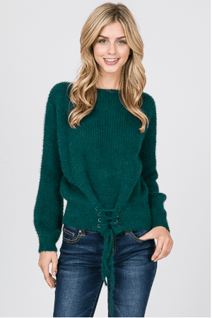 Hunter Green Strap Sweater