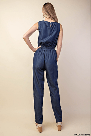 Dark Denim Blue Jumpsuit