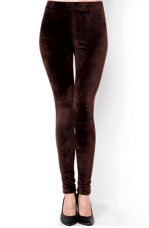 Brown Velour Solid Leggings - Hello, Sunshine Market