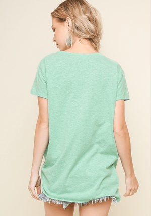 Green Twist Knot Top