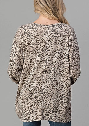 Animal Print Twist Band Sweater - Hello, Sunshine Market