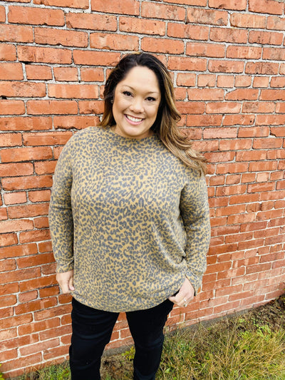 Leopard Print Oversized Top - Hello, Sunshine Market