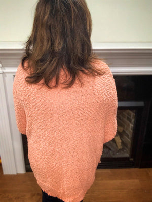 Salmon Cardigan Sweater