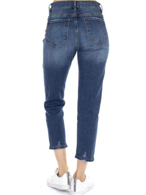 Distressed Cropped Jeans - Hello, Sunshine Market