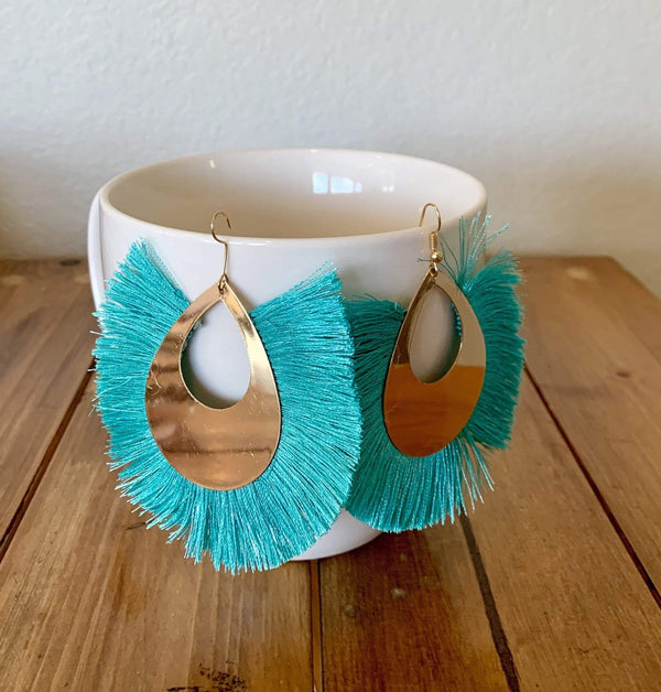 Large Tassel Drop Earrings