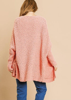 Salmon Cardigan Sweater - Hello, Sunshine Market