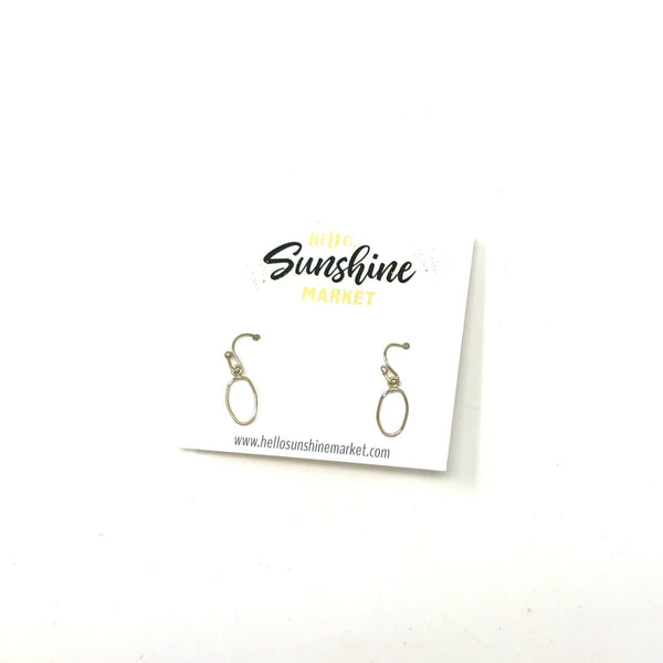 Mini Gold Dangle Earrings - Hello, Sunshine Market