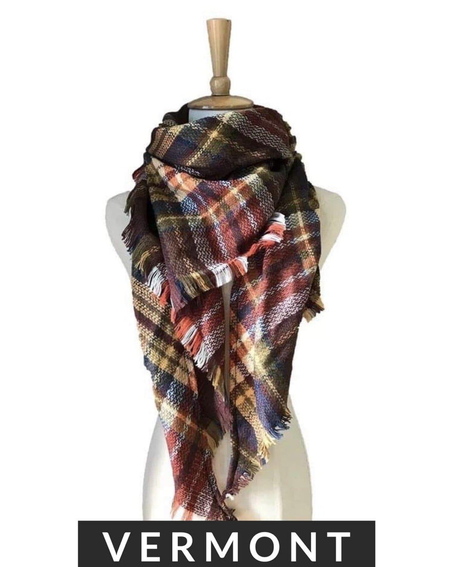Plaid Blanket Scarf - Hello, Sunshine Market
