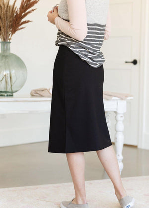 Quinn Black Knit Midi Skirt - Hello, Sunshine Market