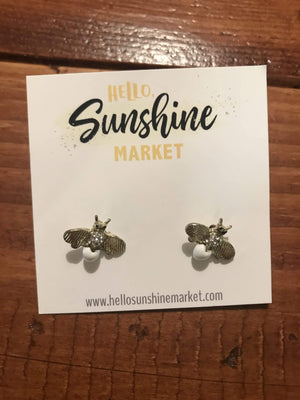 Mini Bee Earrings - Hello, Sunshine Market