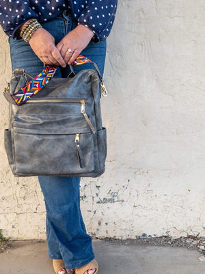 Grey Dylan Backpack Purse