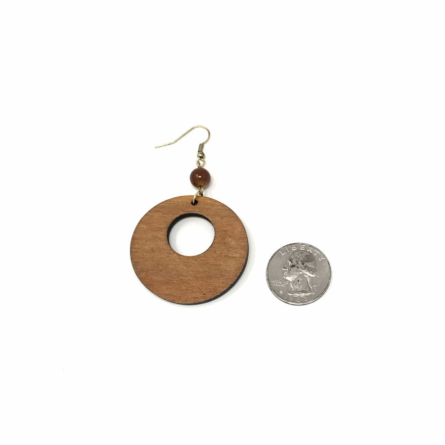 Wooden Disc Earrings - Hello, Sunshine Market