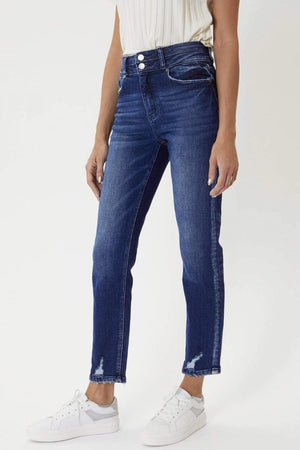Ultra High Rise Straight Leg Denim Jeans