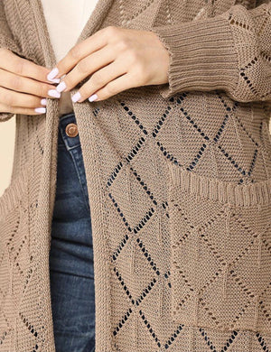 Latte Light Weight Sweater Cardigan