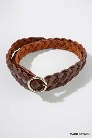 Braided Belt with Gold Buckle