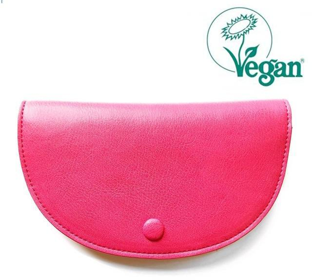 Abella Curved Card and Coin Purse Hot Pink