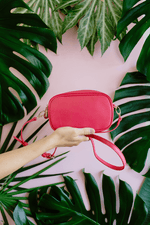 Bahia Twin Zip Mini Camera Bag Hot Pink