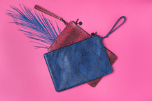 Load image into Gallery viewer, Bahaar Clutch Pink Snake Print
