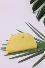 Abella Curved Card and Coin Purse Yellow