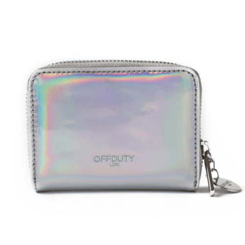 Abbetina Card and Coin Holder Silver Holographic