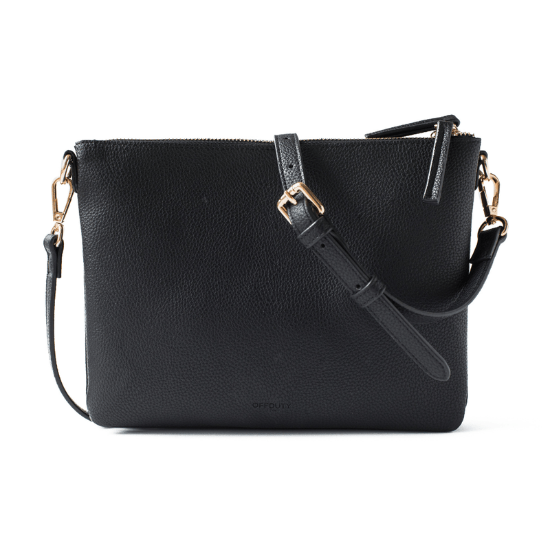 Blake Twin Compartment Cross Body Bag BLACK