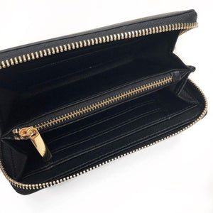 Abitha Zip Round Midi Purse Black